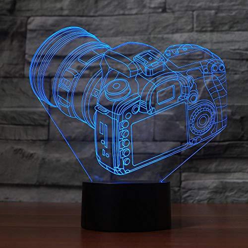 Kreative 3D-Kamera Schreibtischlampe Beleuchtung Lampe mehrfarbige Nachtlicht LED-Dekoration Geschenk