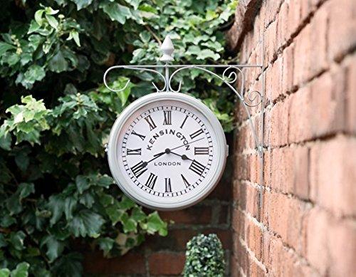 Swan household  - Kensingtn London - Reloj para colgar al aire libre, diámetro de 25 cm (gris)