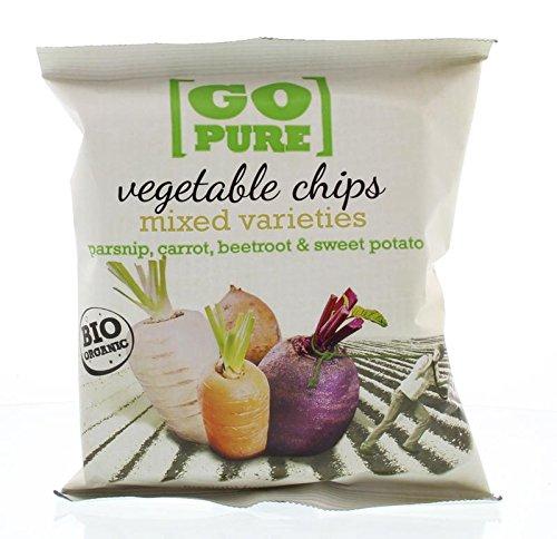 Chipsy warzywne mix bezglutenowe BIO 40 g GoPure