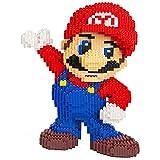 Mopoq スーパーマリオダイヤブロック微粒子は、子供のギフトのためによる8498個を挿入おもちゃプラスチックのビルディングブロックスペル (Color : 赤)
