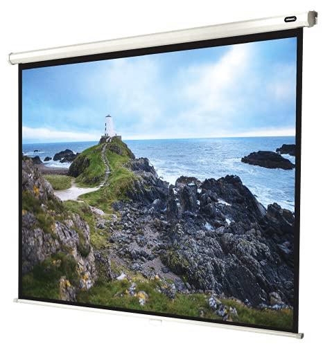 celexon manuell ausziehbare Heimkino- und Business-Beamer-Leinwand 4K und Full-HD Rollo-Leinwand Economy - 200x150cm - 98' - 4:3