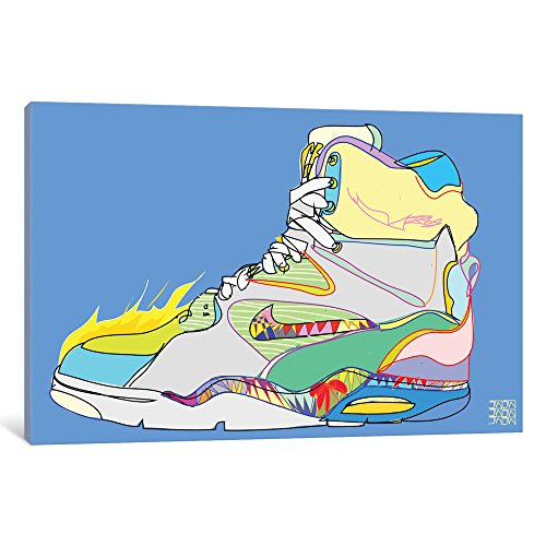 Icanvas Nike Air Command Forces (Billy Ho's) Gallery Wrapped Canvas Art Print by Technodrome1