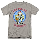 Breaking Bad Los Pollos T Shirt & Stickers (Large) Gray