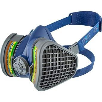 GVS SPR488 Máscara Elipse con filtros reemplazables ABEK1 para múltiples gases y vapores, M/L