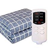 Manta eléctrica para el hogar, manta térmica a cuadros de cachemira suave Comfort Plant, función de sincronización,...