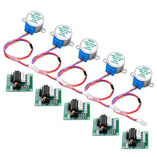 Longruner 5X Geared Stepper Motor 28byj 48 Uln2003 5v Stepper Motor Uln2003 Driver Board with ArduinoIDE (no Wire)
