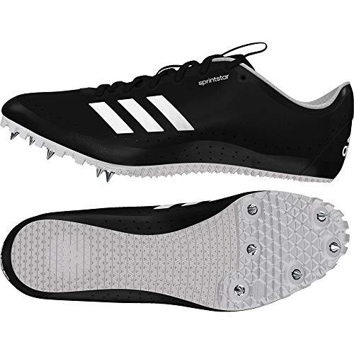 Adidas Sprintstar w, Zapatillas de Atletismo Mujer, Negro (Negbas/Naranj/Ftwbla 000), 45 1/3 EU