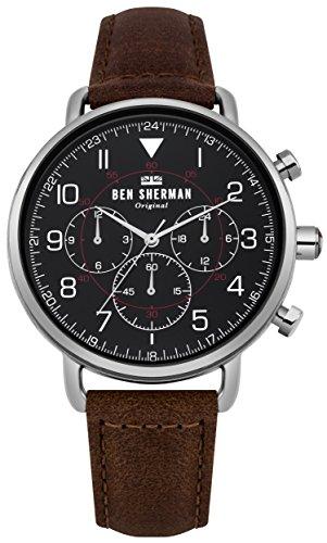 Ben Sherman Herren Multi Zifferblatt Quarz Uhr mit Leder Armband WB068BBR