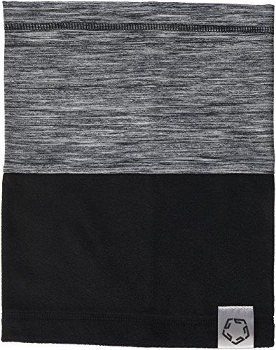 Gregster Damen und Herren Unisex Neckwarmer Schlauchschal Fleece Funktionstuch Schal Maske, grey melange/black, Einheitsgrösse