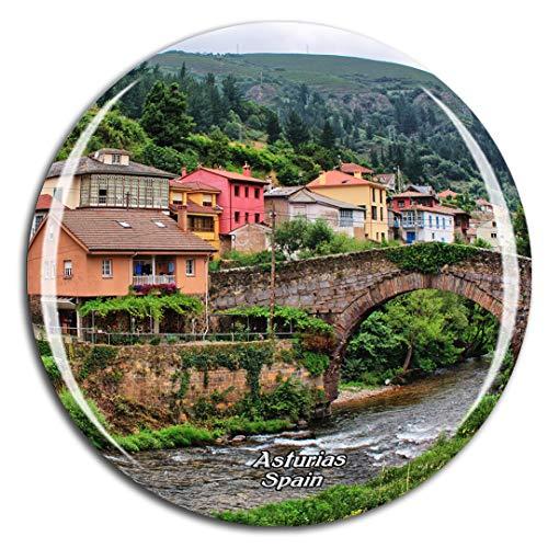 Weekino Spain Asturias Spain Fridge Magnet 3D Crystal City Travel Souvenir Gift Collection Strong Sticker refrigerator