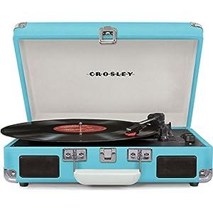 Crosley Player - Tocadiscos (estilo maletín con 3 velocidades ...