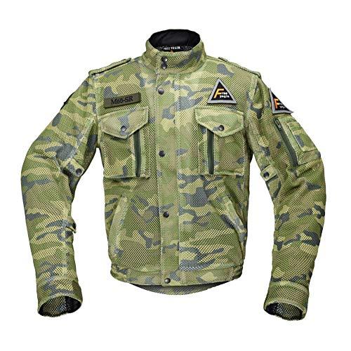 Herren Camouflage Motorradjacke Bikerjacke Atmungsaktiv Mesh Motorrad Jacke,XL