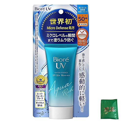 Biore UV Aqua Rich Watery Essence 50g - 2019 Version (Green Tea Set)