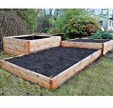 Cedar Raised Beds Natural Timber Wood (150mm x 1.8m x 1.8m)