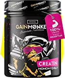 GAINMONKEY® Creatin Monohydrat Pulver - Vegan und ohne Zusätze I 500g reines Creatine Monohydrate Pulver I Extrem beliebt bei Sportlern I Made in Germany -