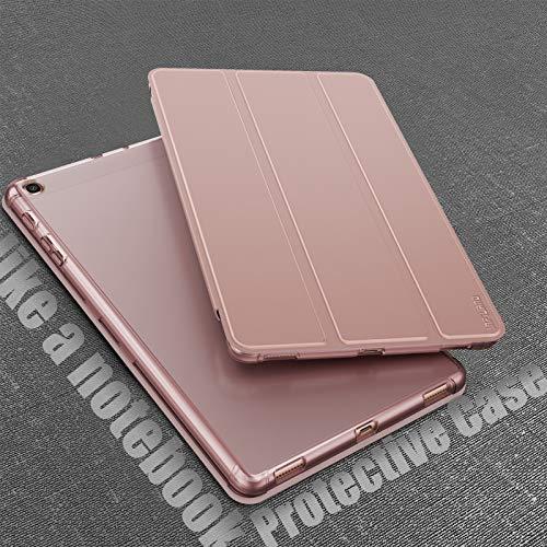 INFILAND Hülle für Samsung Galaxy Tab A 10.1 2019, Superleicht Transluzent TPU Schutzhülle Case kompatibel mit Galaxy Tab A 2019 (T510/T515) 10.1 Zoll,Rosa Goldene
