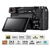 Sony Alpha ILCE 6000L 24.3 MP Mirrorless Digital SLR Camera with 16-50 mm (APS-C Sensor, Fast Auto Focus, Eye AF, Light Weight) - Black