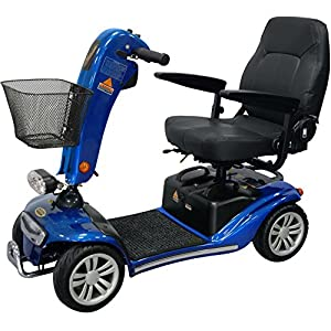 Shoprider Valencia Travel 4 mph Mobility Scooter with Pneumatic Tyres - Blue