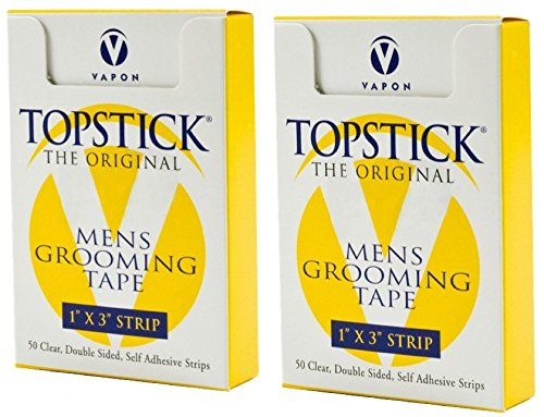 """Vapon Topstick 1"""" X 3"""" - 50 Strips in each box (2 boxes) Hypo-Allergenic All Purpose Clear Double Tape"""
