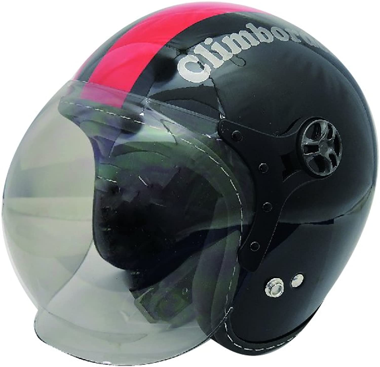 HEAT GROUP Krim border shielded jet helmet black   red 57  60cm SG standard exhaust the amount of unlimited CB01BK   RD