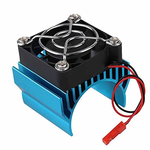 Generic Aluminum Motor Heatsink Kühlkörper Kühler for 1/10 RC Car 40mm Motor 540/550 - Blau