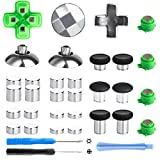 Z&Hveez Magnetic Metal Mod Buttons for PS4 Controller, Thumbsticks Joysticks & Adjustable D-Pads & Magnetic Bullet Button Replacement Parts for PS4 Slim, Playstation 4, PS4 Pro Controllers