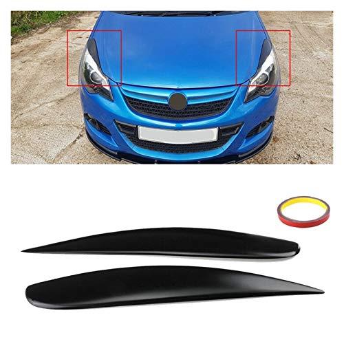LWLD Scheinwerfer Augenbraue Für Vauxhall Corsa D VXR 2006-2014 Autoscheinwerferlampe Augenbrauespoiler Matte Aufkleberschutz Augenlider Zierblende