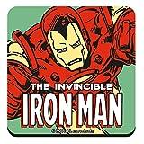 Marvel Comics genuino El invencible Iron Man Un solo posavasos Bebidas Mat Vintage Retro