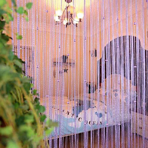 UNIAI Draadgordijn, draadgordijn, gordijn, parelgordijn, deurparels, gordijnen, 100x200cm, kamerverdeler, anti-muggen