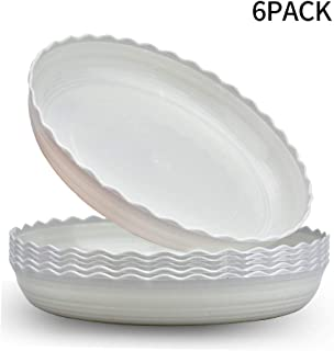 Wave Plant Saucer 6 Packs 10 Inch Plastic Flower Pot Tray Durable Heavy Duty Plant Trays for Indoor and Out Door Plant