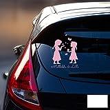 ilka parey wandtattoo-welt Autotattoo Heckscheibenaufkleber Fahrzeug Sticker Aufkleber Baby Schneeprinzessin Kinder M1872 - ausgewählte Farbe: *weiß* ausgewählte Größe: *M - 18cm breit x 25cm hoch*