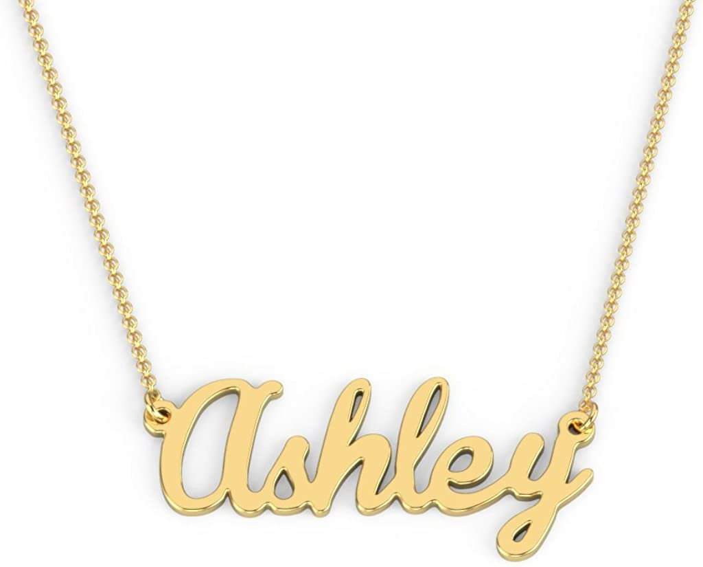 10K Personalized Name Necklace in Brannboll Font by JEWLR