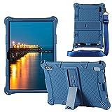 YHFZR Funda para ZONMAI MX2 Tablet 10.1 Pulgada, Silicón Ligera Carcasa Antideslizante con Soporte para los niños para ZONMAI MX2 Tablet 10.1 Pulgada, Azul