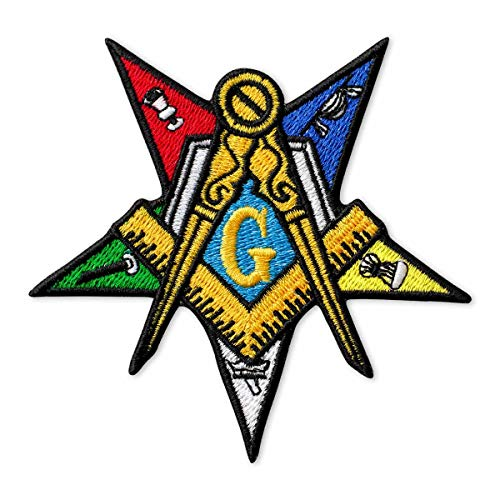 Masonic Order of The Eastern Star Embroidered Patch Iron On (3.7' × 3.7')