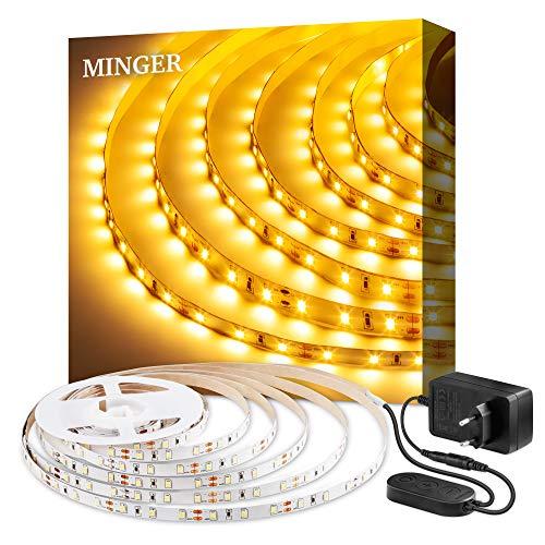 5m 3000K LED Strip 300 LEDs Streifen Dimmbar, 2835 SMD LED Band Leiste Innenbeleuchtung für Spiegel Deko Party Küche Weihnachten
