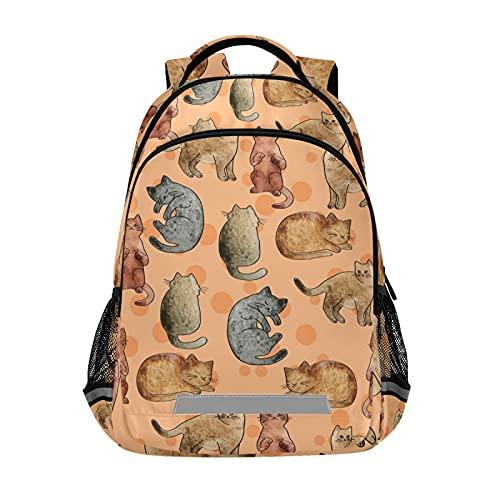 Mochila para portátil para niñas y niños escolares, duradera mochila para dormir con tira reflectante de 42,4 x 29,5 x 17,5 cm