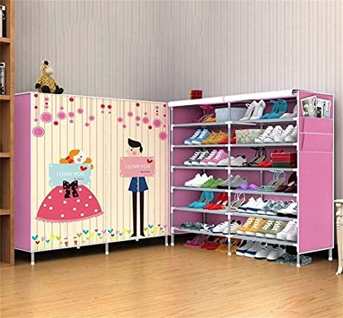 N/Z Equipo para el hogar Simple, Moderno, económico, para Estudiantes, Dormitorio, Almacenamiento de Zapatos para el Polvo, Zapatero, Taburete para Cambiar Zapatos (tamaño: 11 cuadrícula)