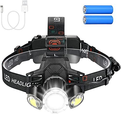 Linkind Stirnlampe LED Kopflampe USB wiederaufladbar, Ultra-hell 1000Lm Stirnleuchte mit Rotlicht/ 4 Lichtmodi, 240° Abstrahlwinkel Ideal für Joggen, Camping, Radwandern (inkl. USB Kabel)