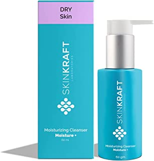 SkinKraft Face Wash For Dry Skin - Customized Moisturizing Cleanser To Hydrate Skin & Prevent Moisture Loss - Gently Remov...