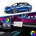 2021 Tesla Model 3 Neon Leuchtröhren RGB Innenraum LED Streifen Lichter für Mittelkonsole Dekoration mit App Controller