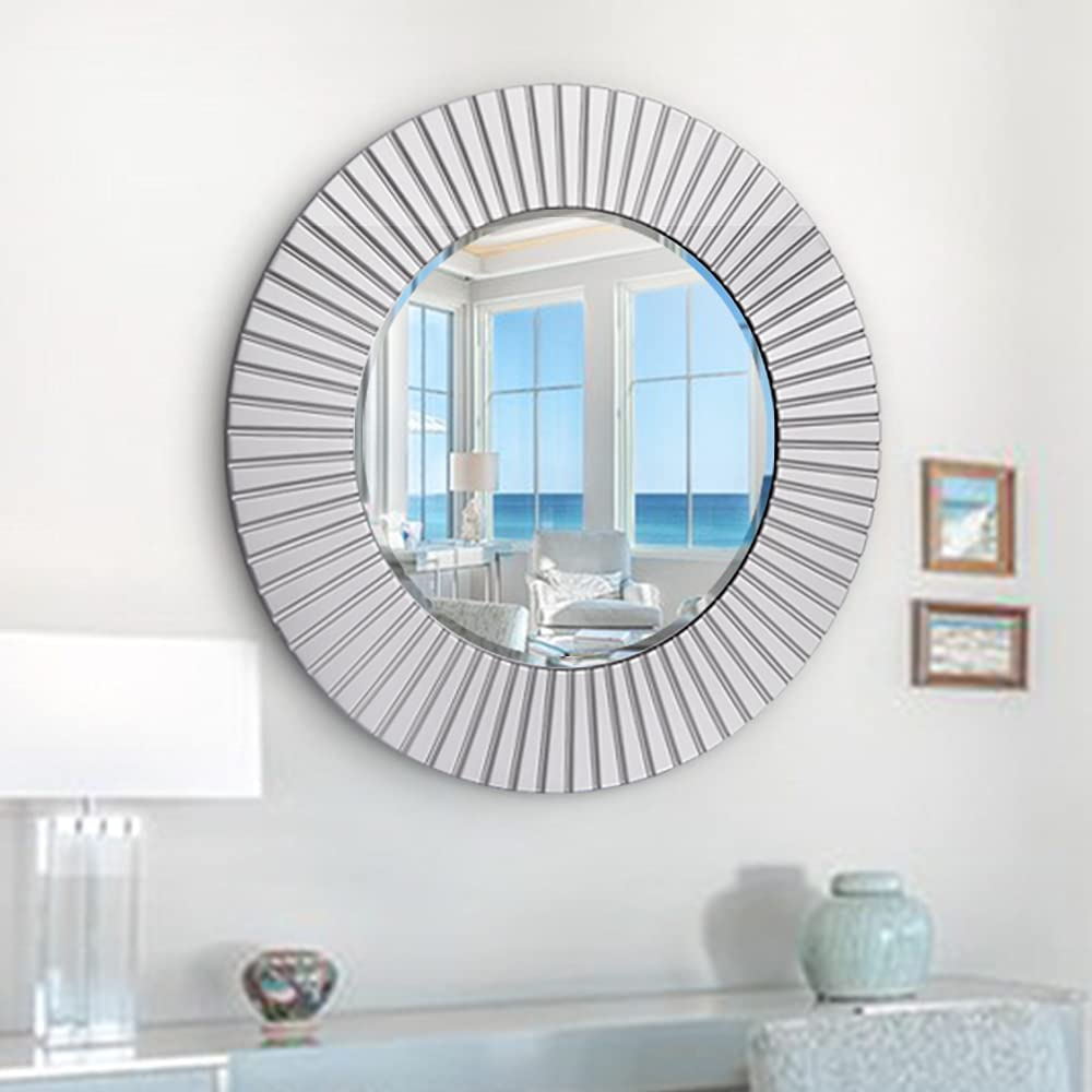 Chende 30'' Large Round Inventory cleanup selling sale Wall Mirror Modern Mir Decorative Save money Decor