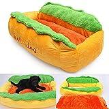 Jingjing Hot Dog Lavable en Coton Niche Chien Nest Chiot Panier pour Animal Domestique Coussin Maison Chaude Tapis de Pad S/L