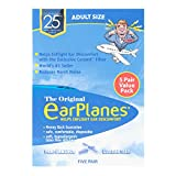 New Super Soft Adult EarPlanes® Ear Plugs Airplane Travel Ear Protection 5 Pair