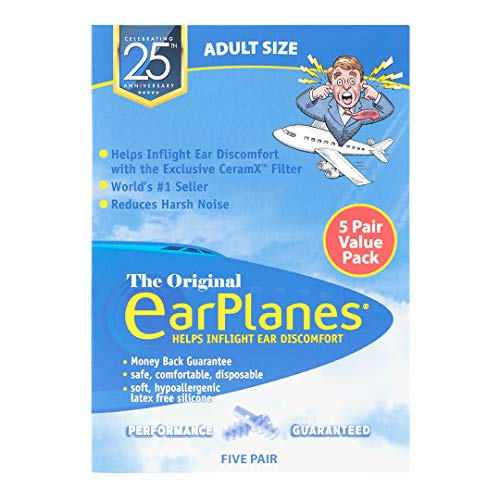 New Super Soft Adult EarPlanes Ear Plugs Airplane Travel Ear Protection 5 Pair