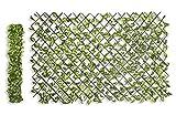TIENDA EURASIA Valla Decorativa de Hojas Artificiales Extensible. Varias Medidas. Ideal para Dar un Toque Fresco a tu hogar. (90 x 180 cm)