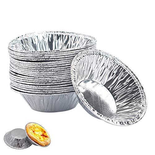 Shuda 250pcs Molde para Tarta (Hoja de estaño desechable Molde para Tartas, Hoja de Aluminio Tarta de Huevos Bottom Bracket Herramienta de Horno para Tarta de Huevos (Black Friday Deals)
