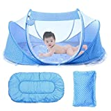 Baby Travel Bed, Portable Baby Bed,Travel Folding Baby Crib, Baby Cots Newborn Foldable Crib with Mosquito Net...