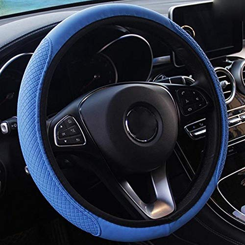 Auto Steering Wheel Cover Auto stuur- wiel Cover Anti-Slip Universal Embossing lederen auto-styling (Color : H08, Size : Free)
