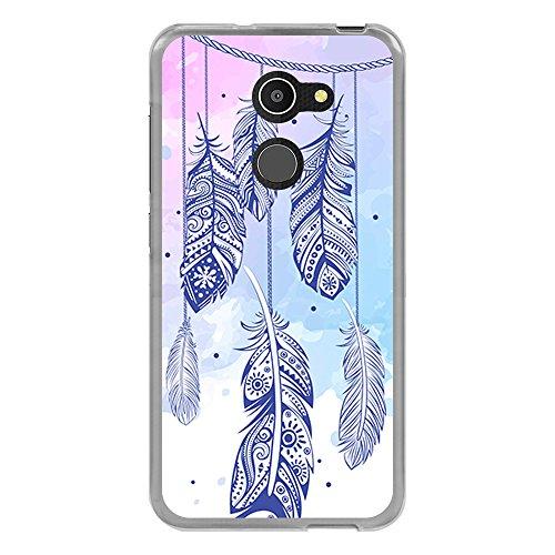 BJJ SHOP Transparent Hülle für [ Vodafone Smart N8 ], Klar Flexible Silikonhülle, Design: Dreamcatcher mehrfarbiger Steigungshintergrund v3
