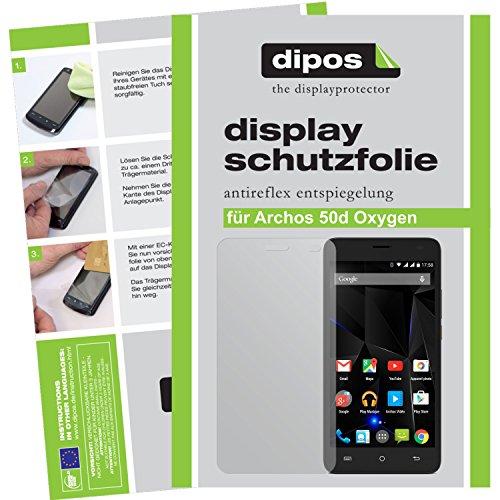 dipos I 6X Schutzfolie matt kompatibel mit Archos 50d Oxygen Folie Displayschutzfolie